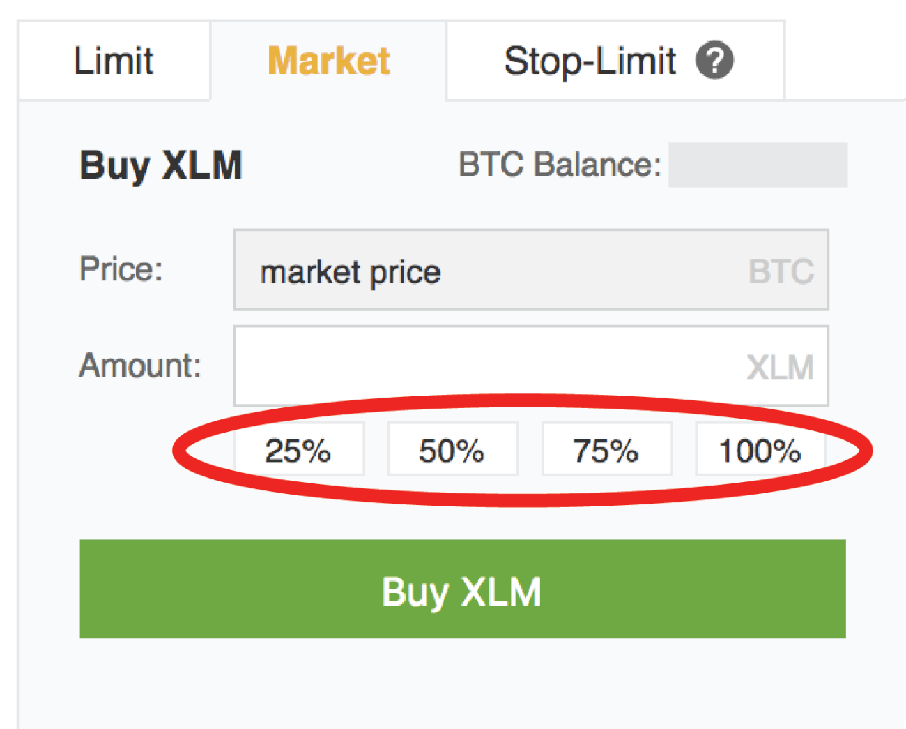 Buy Stellar Percentages